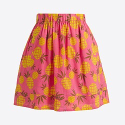 Printed gauze skirt