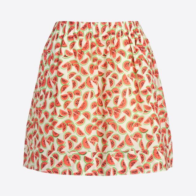 Printed cotton skirt