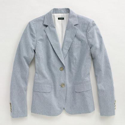 Factory chambray schoolboy blazer