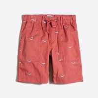 Boys' embroidered pull-on short