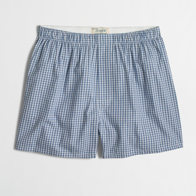 Blue gingham boxers