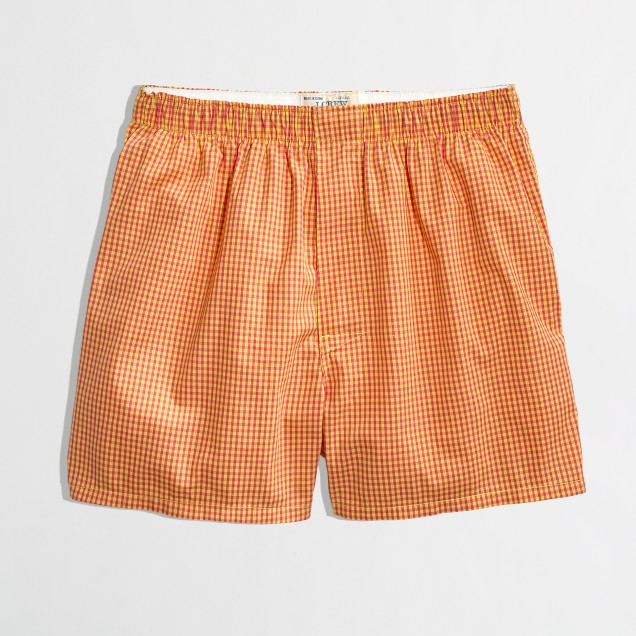 Factory multicolor gingham boxers