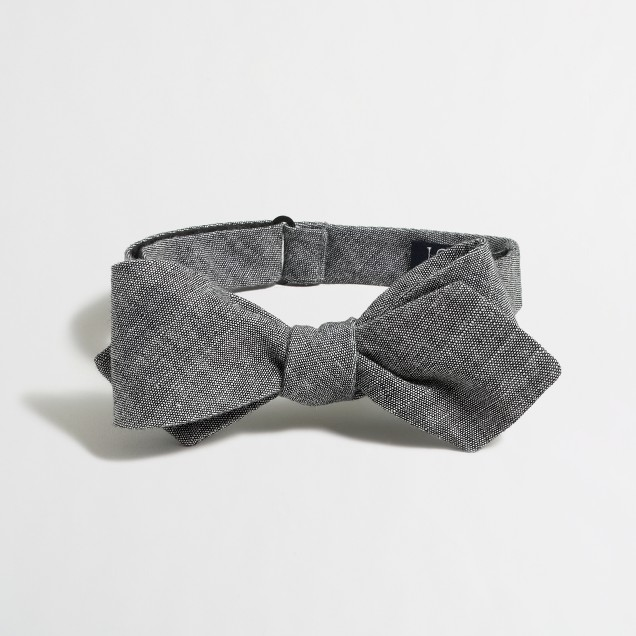 Factory chambray bow tie
