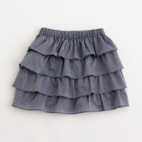 Factory girls' chambray ruffle skirt