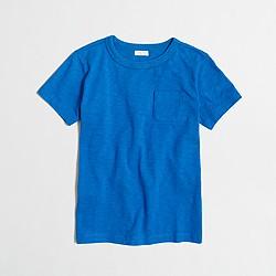 Boys' short-sleeve slub pocket T-shirt