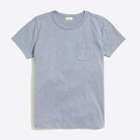 Boys' short-sleeve slub pocket T-shirt
