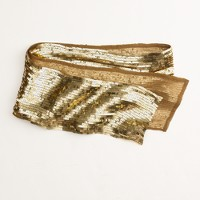 Factory sequin sash scarf