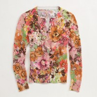 Factory waterfloral pastiche cardigan