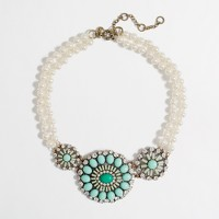 Factory pearl and crystal collar necklace
