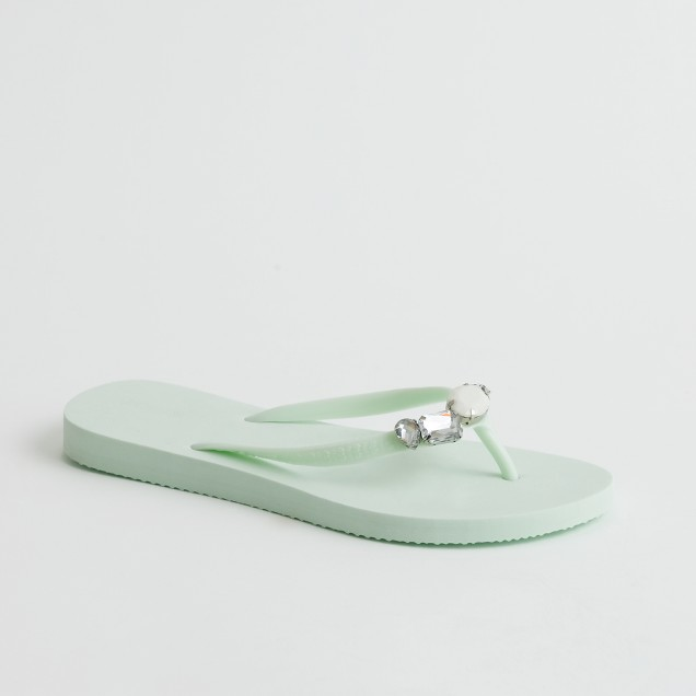 Factory Boca jeweled flip-flops