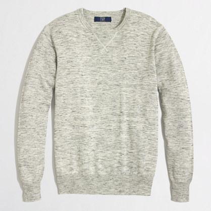 Heathered sweatshirt sweater