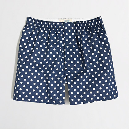 Factory blue dot boxers