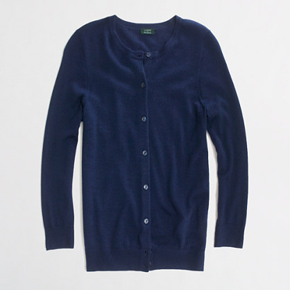 Factory summerweight cashmere cardigan