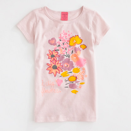 Factory girls' neon flower tee