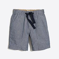Boys' chambray pull-on short