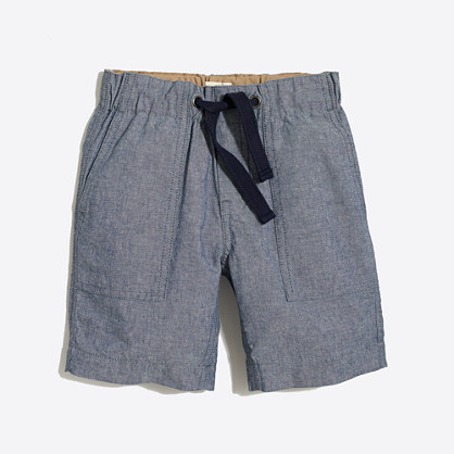 Boys' chambray pull-on short