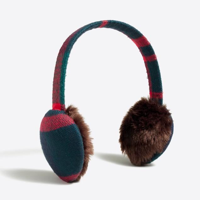 Plaid earmuffs
