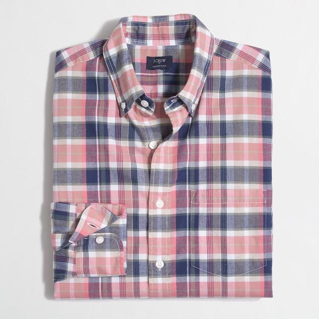 Summer plaid shirt