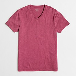 Factory slim heathered washed V-neck T-shirt