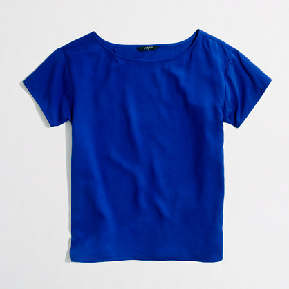 Factory washed silk tee