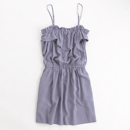 Factory solid ruffle dress