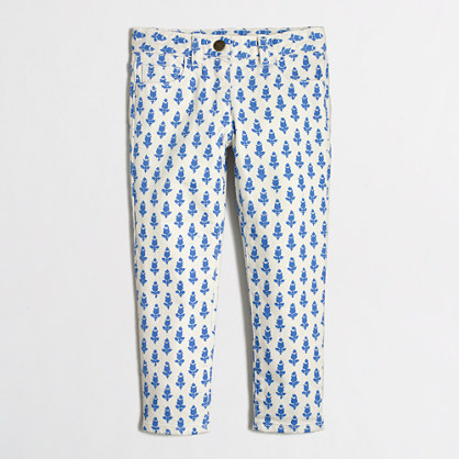 Factory girls' printed skinny jean