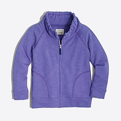 Girls' terry zip-up sweatshirt
