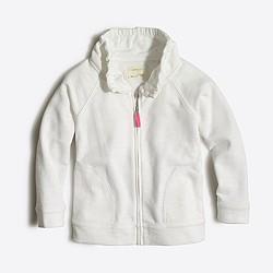 Girls' terry zip-up sweatshirt