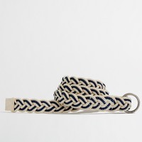 Factory two-tone braided belt