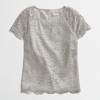 Factory scalloped lace tee