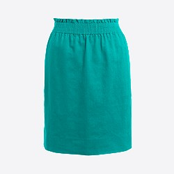 Linen-cotton sidewalk mini skirt