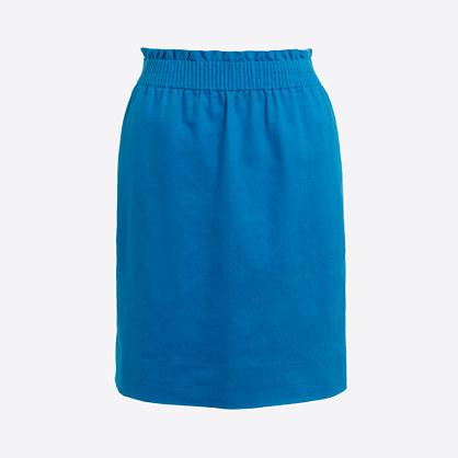 Linen-cotton sidewalk skirt