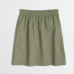 Factory linen-cotton mini skirt