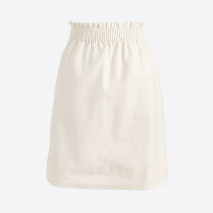 Linen-cotton mini skirt