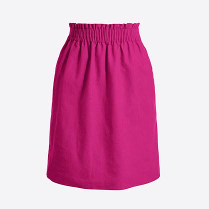 Linen-cotton sidewalk mini skirt