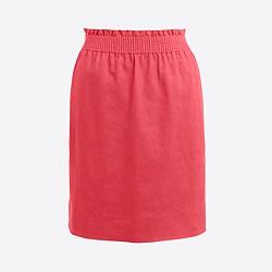 Linen-cotton mini skirt