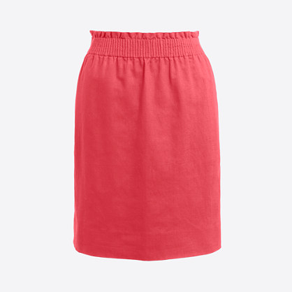 Linen-cotton sidewalk skirt