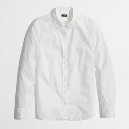 Factory petite white button-down shirt : Petites | J.Crew Factory