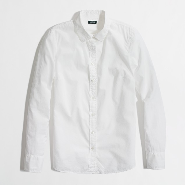 Factory white button-down shirt