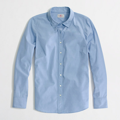 Factory classic button-down shirt in end-on-end