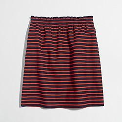Factory printed linen-cotton sidewalk skirt