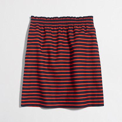 Printed linen-cotton sidewalk skirt