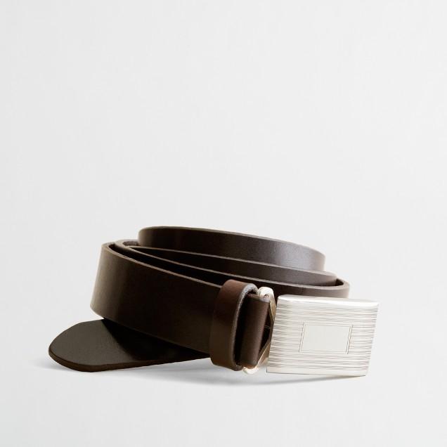Factory leather plaque belt