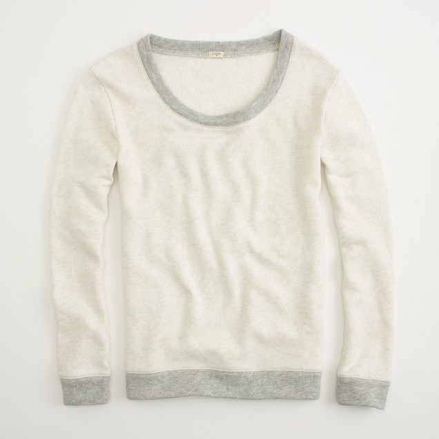 Factory Haya two-tone terry pullover