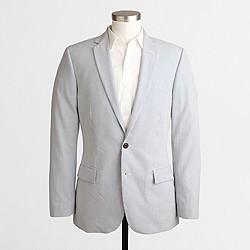 Factory Thompson suit jacket in seersucker