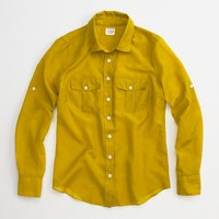 Factory camp shirt in cotton-silk