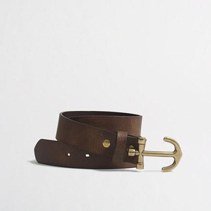 Boys' nautical leather belt