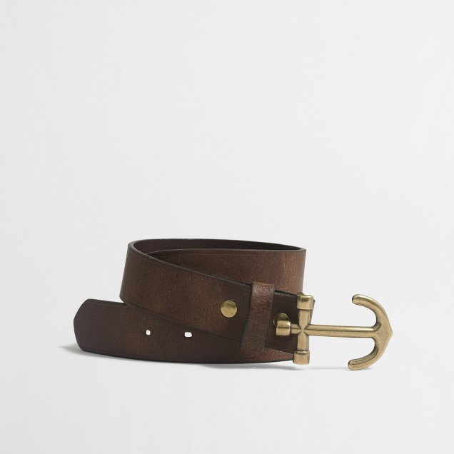 Boys' nautical leather belt