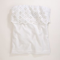 Factory eyelet strapless top