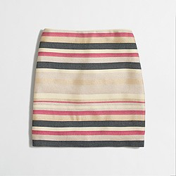 Factory shiny-striped mini skirt
